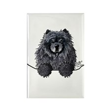 Black Chow Chow Rectangle Magnet (100 pack)