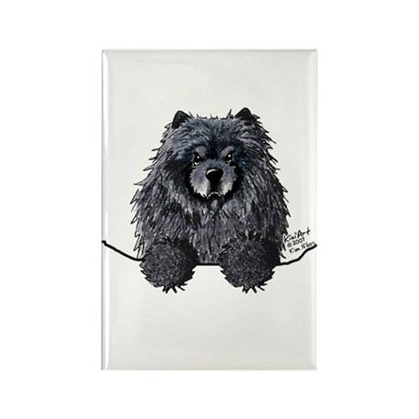 Black Chow Chow Rectangle Magnet (10 pack)