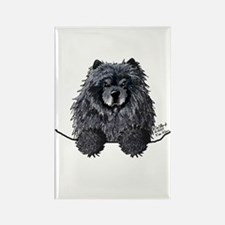 Black Chow Chow Rectangle Magnet