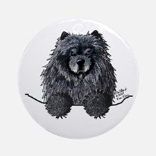 Black Chow Chow Ornament (Round)