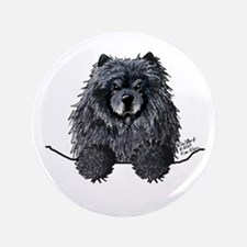 "Black Chow Chow 3.5"" Button"