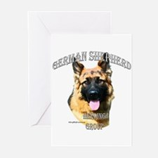 GSD 3 Greeting Cards (Pk of 10)