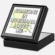 Someone in Louisiana Keepsake Box