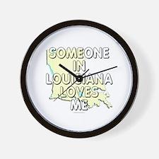 Someone in Louisiana Wall Clock