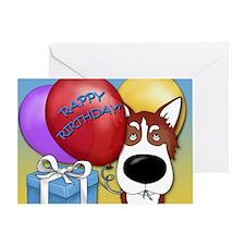 Husky Birthday Greeting Card