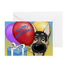 German Shepherd Birthday Greeting Card