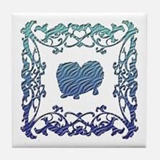 Pekingese Lattice Tile Coaster