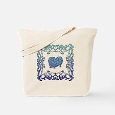 Pekingese Lattice Tote Bag