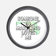 Someone in Maryland Wall Clock