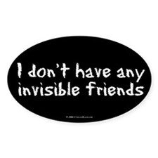 Invisible Friends Oval Decal