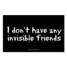 Invisible Friends Rectangle Stickers
