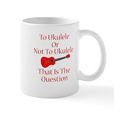 funny red ukulele Mug