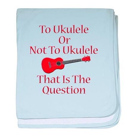 funny red ukulele baby blanket