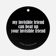 Fighting Invisible Friends Ornament (Round)