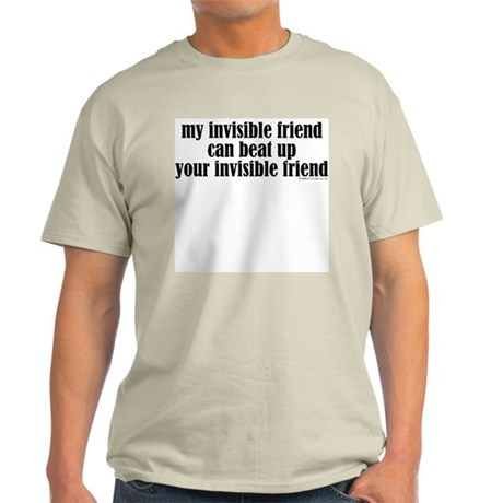 Fighting Invisible Friends Ash Grey T-Shirt