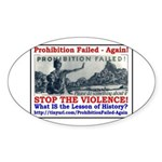 ProhibitionFailed-1 Sticker (Oval)