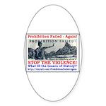 ProhibitionFailed-1 Sticker (Oval 50 pk)