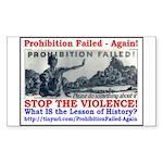 ProhibitionFailed-1 Sticker (Rectangle)