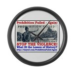 ProhibitionFailed-1 Large Wall Clock