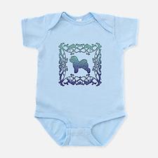 Bichon Frise Lattice Infant Bodysuit