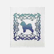 Bichon Frise Lattice Throw Blanket