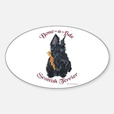 Bone-a-fide Scottie Oval Decal