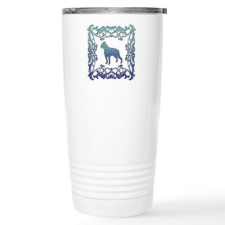 Boston Terrier Lattice Stainless Steel Travel Mug
