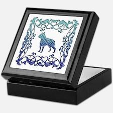 Boston Terrier Lattice Keepsake Box