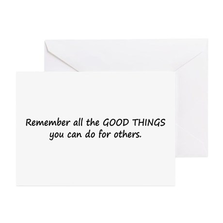 GOOD THINGS Greeting Cards (Pk of 10)