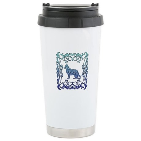 German Shepherd Lattice Stainless Steel Travel Mug