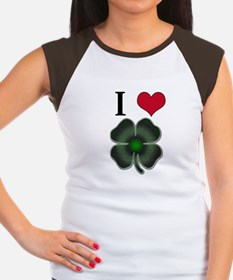 Many... Many... SHAMROCKS!! Women's Cap Sleeve T-S