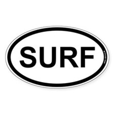 SURF - Surfer Bumper Stickers