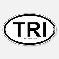 TRI - Triathlon Sticker (Oval)