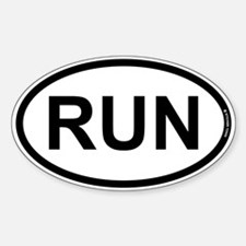 RUN Sticker (Oval)