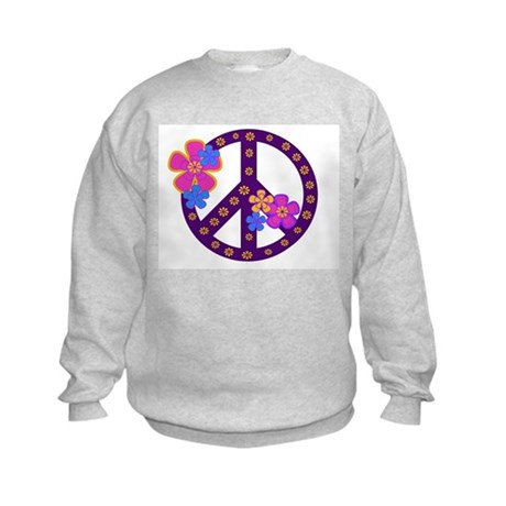 Peace Sign Kids Sweatshirt