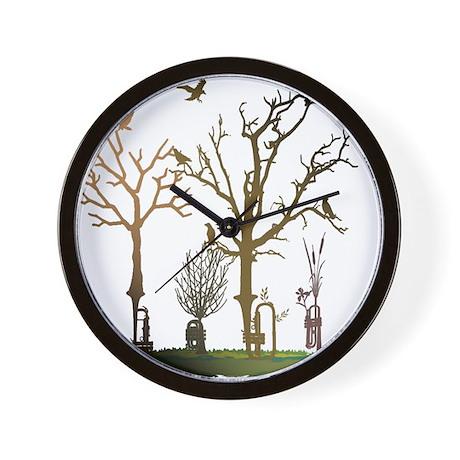 Natural Trumpets Wall Clock