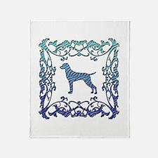 Vizsla Lattice Throw Blanket
