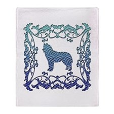 Siberian Husky Lattice Throw Blanket
