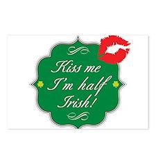 Kiss Me, I'm Half Irish Postcards (Package of 8)