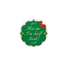 Kiss Me, I'm Half Irish Mini Button (10 pack)