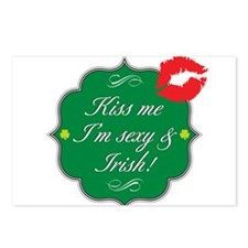 Kiss Me, I'm Sexy & Irish Postcards (Package of 8)