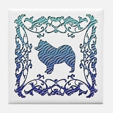 Samoyed Lattice Tile Coaster