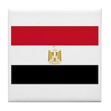 Cute Egypt flag Tile Coaster