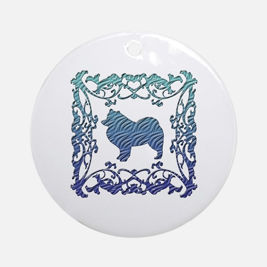 Samoyed Ornament (Round)