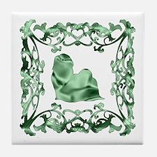Shih Tzu Lattice Tile Coaster