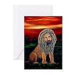 Rasta Lion Greeting Cards (Pk of 10)
