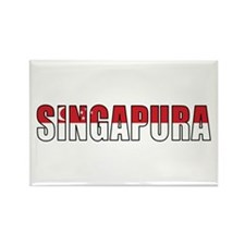 Singapore (Malay) Rectangle Magnet
