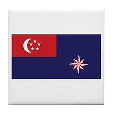 Singapore Govt. Ensign Tile Coaster