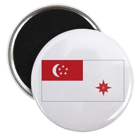 "Singapore Naval Ensign 2.25"" Magnet (10 pack)"