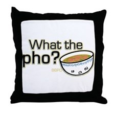 What the Pho Throw Pillow